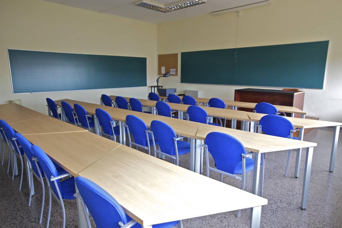 Aula destinada a la docencia en la Escuela Universitaria de Estudios Empresariales (E.U.E.E.) de la Universidad de Vigo