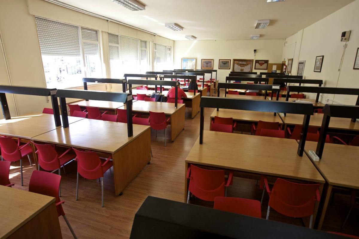 Sala de lectura de la Escuela Universitaria de Estudios Empresariales (E.U.E.E.) de la Universidad de Vigo